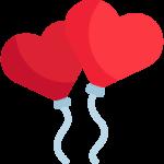 Geburtstagsdekoration - Luftballons mit Herzen