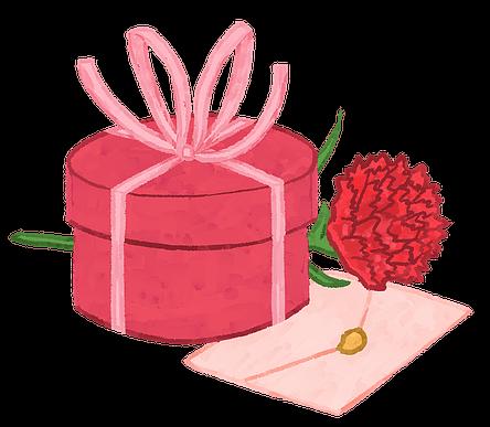 Geschenk Rose und Geburtstagskarte